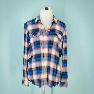 Pendleton Gap M Plaid Flannel Button Down Shirt